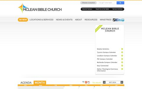Screenshot of Press Page mcleanbible.org - News & Events - captured Oct. 27, 2014