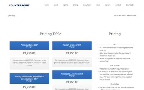 Aviation & Aerospace Pricing Pages | Website Inspiration and
