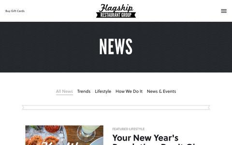 Screenshot of Press Page flagshiprestaurantgroup.com - News - Flagship Restaurant Group - captured June 6, 2017