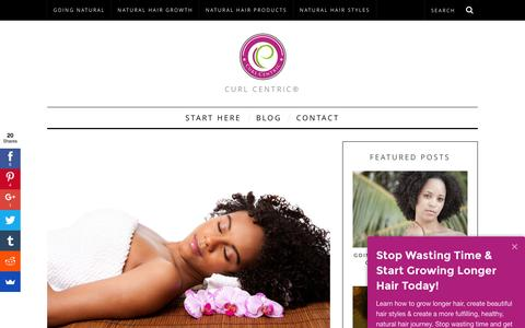 Screenshot of Blog curlcentric.com - Blog - Curl Centric®   Rewrite the Rules of Natural Hair Care - captured Feb. 7, 2016