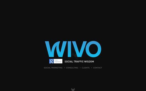 Screenshot of Home Page wivo.co.il - Wivo Social Traffic Wisdom - captured Feb. 15, 2016