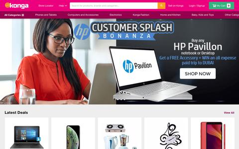 Screenshot of Home Page konga.com - Buy Phones, Fashion, Electronics in Nigeria | Konga Online Shopping - captured Oct. 21, 2018