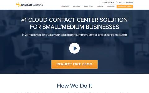 Screenshot of Home Page safesoftsolutions.com - Call Center Software | Contact Center Software | SafeSoft Solutions - captured Sept. 19, 2014