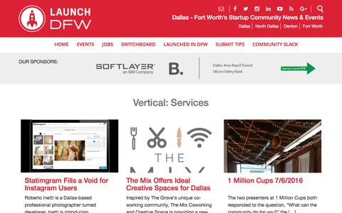 Screenshot of Services Page launchdfw.com - Services Archives - Launch DFWLaunch DFW - captured July 9, 2016