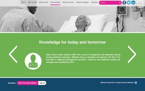 Screenshot of Case Studies Page wellness-group.com - Case Studies | Wellness Group - captured Oct. 10, 2014