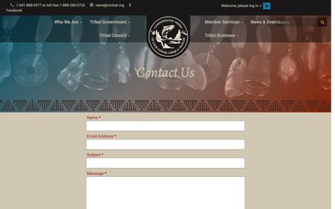 Screenshot of Contact Page ctclusi.org - Contact Us - captured Nov. 10, 2016