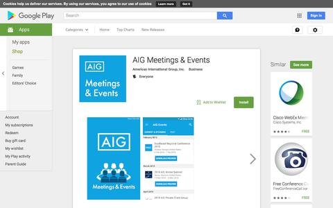 AIG Meetings & Events - Android Apps on Google Play