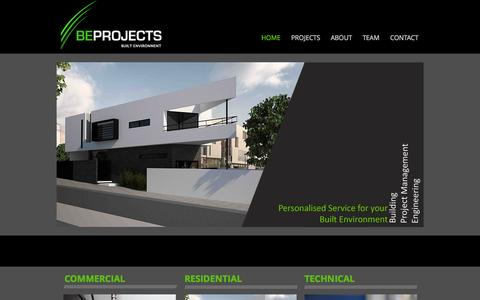 Screenshot of Home Page beprojects.com.au - BE Projects - captured Oct. 8, 2014