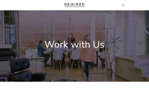 Screenshot of Jobs Page rewiredpr.com - Careers — REWIRED | B2C and B2B | PR, Marketing, Content & Events - captured Oct. 20, 2018