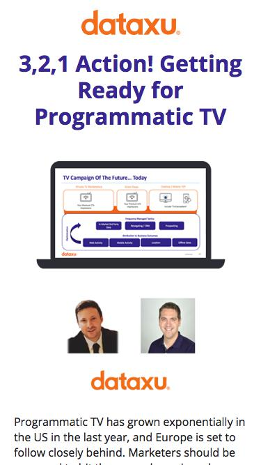 3,2,1 Action! Getting Ready for Programmatic | DataXu Webinar