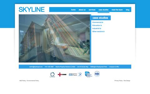 Screenshot of Case Studies Page skylinepsl.com - case studies – Skyline - captured Oct. 26, 2014