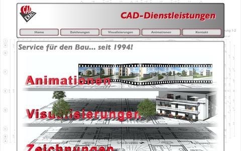 Screenshot of Home Page cad-exact.de - CAD Exact, CAD Dienstleistung, Service für den Bau ... - captured June 27, 2018
