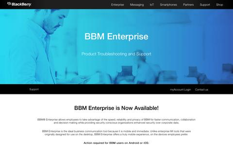 BlackBerry Enterprise App Support - BBM Enterprise - United States