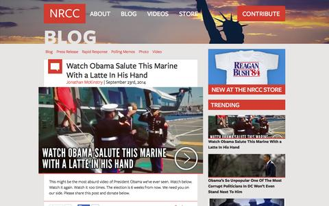 Screenshot of Blog nrcc.org - Blog - National Republican Congressional Committee www.nrcc.org - captured Sept. 23, 2014