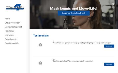 Screenshot of Testimonials Page move4life.nl - Move4Life | Dé sportschool voor fitness in Zoetermeer - Testimonials - captured Nov. 16, 2017