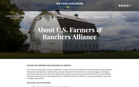 Screenshot of About Page fooddialogues.com - About - Food Dialogues - captured Dec. 16, 2018