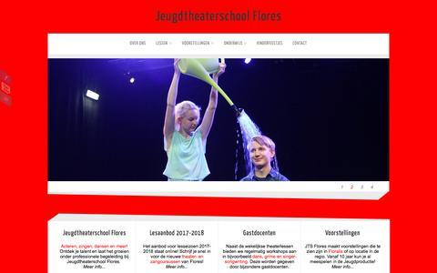 Screenshot of Home Page jtsflores.nl - Jeugdtheaterschool Flores - captured Oct. 18, 2017