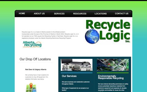 Screenshot of Home Page recycle-logic.com - Recycle Logic Inc. - captured Oct. 7, 2014