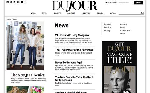 Screenshot of Press Page dujour.com - News: Celebrity Interviews, and Trends. DuJour - captured Jan. 14, 2016