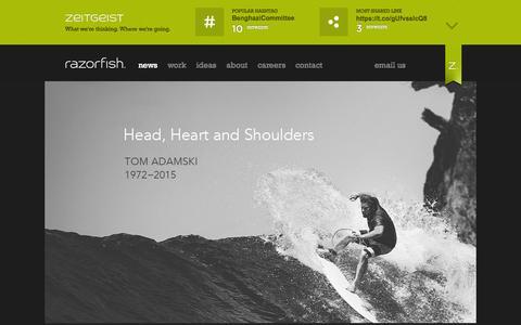 Screenshot of Home Page razorfish.com - Razorfish: The Agency for Marketing, Experience and Enterprise Design - captured Oct. 22, 2015