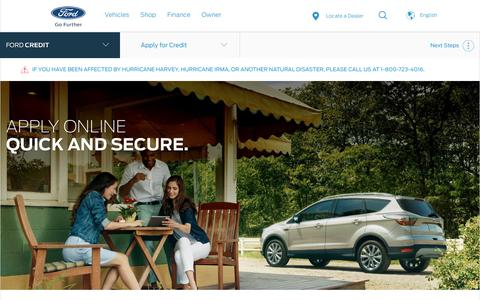 Apply for Ford Credit Vehicle Financing Online | Official Site of Ford Credit