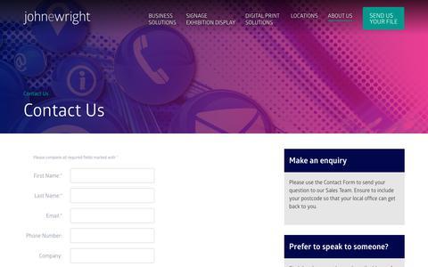 Screenshot of Contact Page johnewright.com - Contact Us   John E. Wright & Co Ltd - captured Oct. 14, 2018