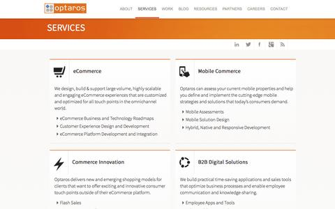 Screenshot of Services Page optaros.com - Offerings | Optaros - captured Sept. 13, 2014