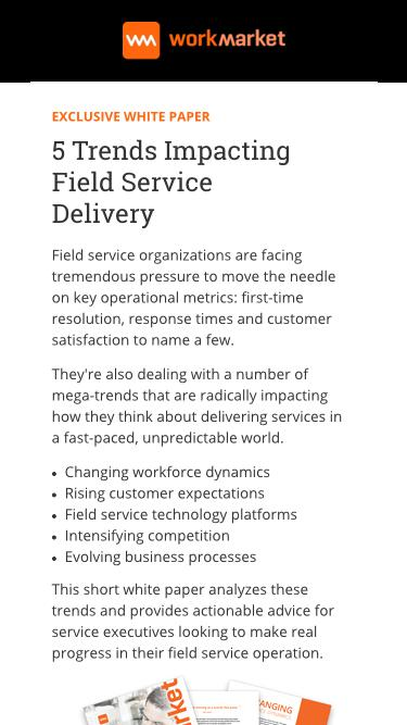 5 Trends Impacting Field Service Delivery