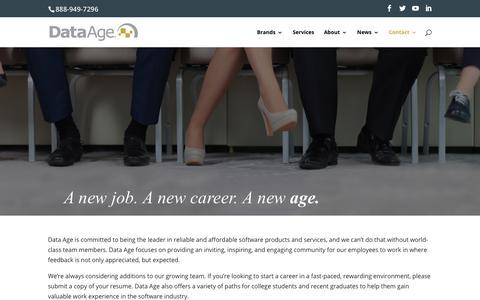 Screenshot of Jobs Page dataage.com - Careers - Data Age Business Systems - Data Age Business Systems - captured Oct. 7, 2018