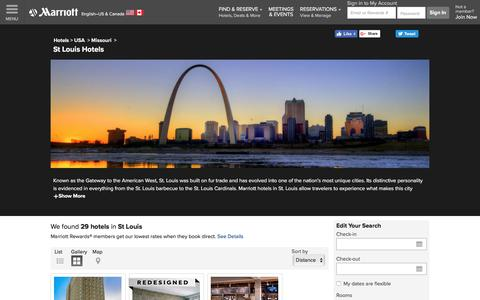 Find St Louis Hotels by Marriott