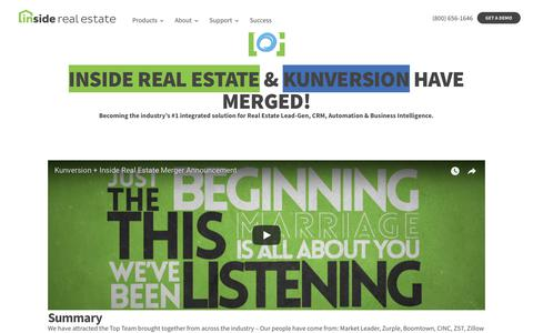 Screenshot of About Page insiderealestate.com - (2) New Messages! - captured July 12, 2018