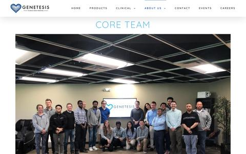 Screenshot of About Page genetesis.com - Our Team - Genetesis - captured Sept. 27, 2018