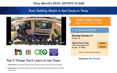 Screenshot of Landing Page fortunebuilders.com - Than Merrill's Real Estate Class - captured Feb. 19, 2017