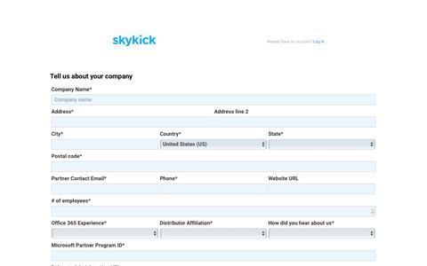 SkyKick - Get started with a Free account