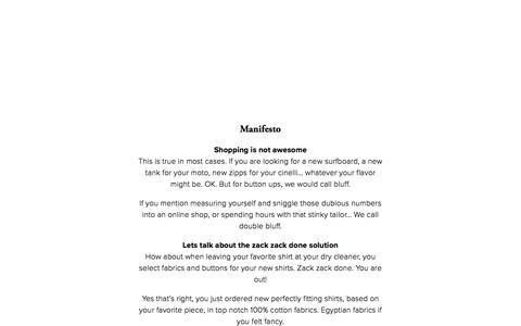 Screenshot of Team Page cloneyourshirt.com - Manifesto — Clone - captured July 19, 2018