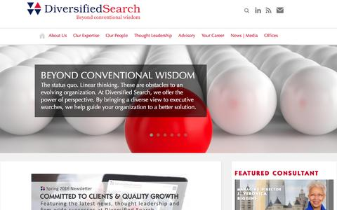 Diversified Search   Beyond conventional wisdom