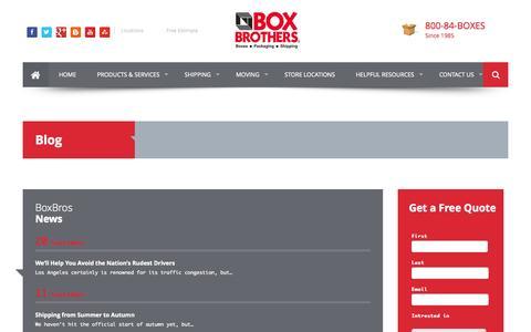 Screenshot of Blog boxbros.com - Blog | BoxBros - captured Sept. 23, 2014