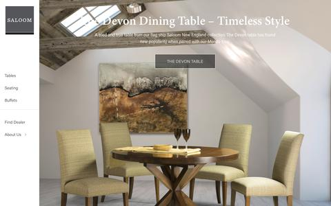 Screenshot of Home Page saloom.com - Saloom Furniture Company - captured Oct. 4, 2017