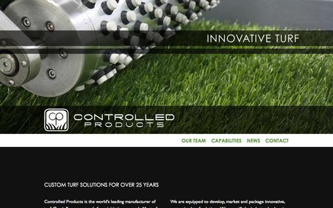 Screenshot of About Page cpturf.com - Home | Controlled Products, LLC - captured Oct. 3, 2014