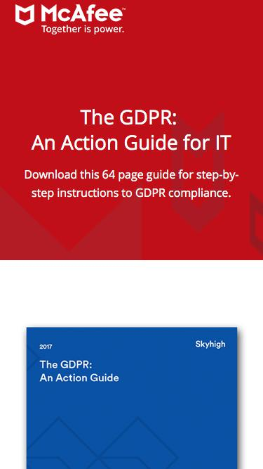 The GDPR: An Action Guide for IT