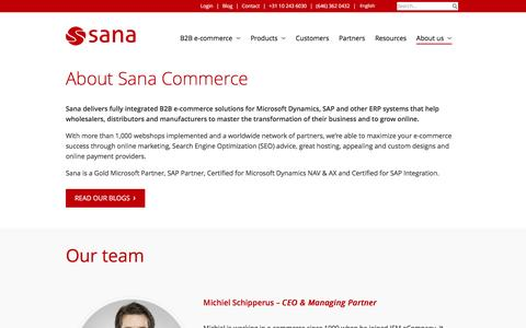 Screenshot of About Page sana-commerce.com - About us | Sana Commerce - captured July 22, 2016