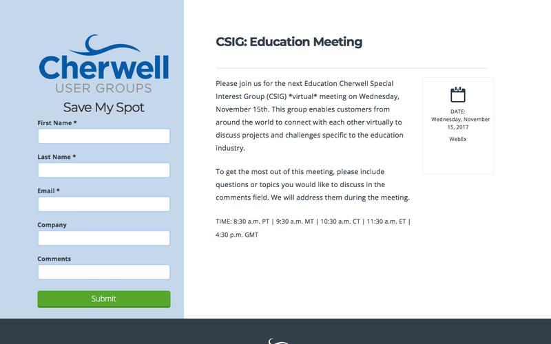 CSIG - Education 11-15-2017