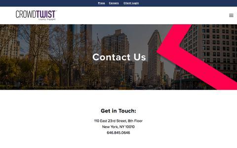 contact us — Loyalty Marketing | Engagement Marketing