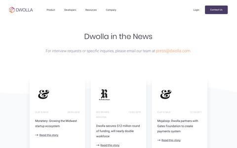 Screenshot of Press Page dwolla.com - Press   Dwolla - captured Oct. 6, 2018