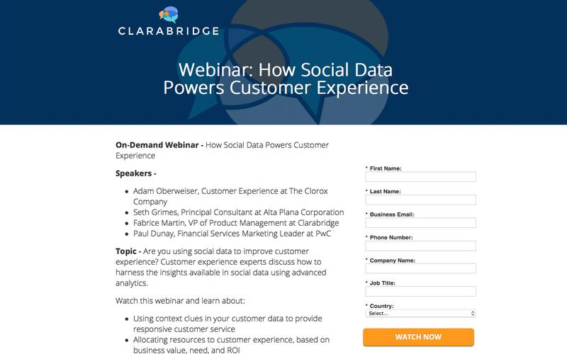 Webinar: How Social Data Powers Customer Experience | Clarabridge