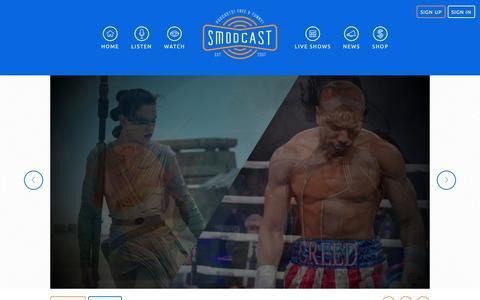 Screenshot of Home Page smodcast.com - SModcast - captured Feb. 18, 2016
