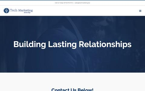 Screenshot of Contact Page techmarketing.biz - Contact – Tech Marketing - captured Dec. 10, 2018