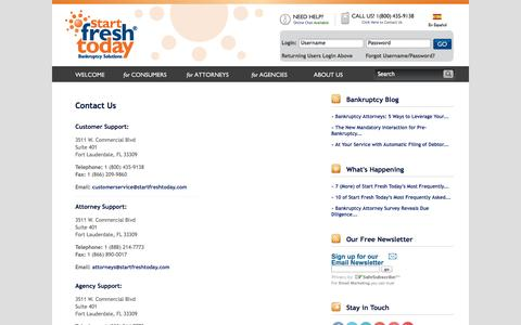 Screenshot of Contact Page startfreshtoday.com - Contact Us | Start Fresh Today - captured Sept. 24, 2014