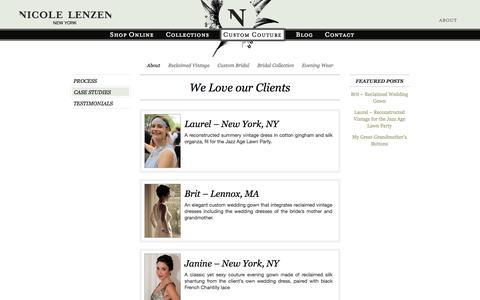 Screenshot of Case Studies Page nicolelenzen.com - Case Studies | Nicole Lenzen - captured Nov. 2, 2014