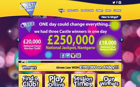 Screenshot of Home Page castlebingo.co.uk - Castle Bingo - Play Bingo - captured Oct. 2, 2014